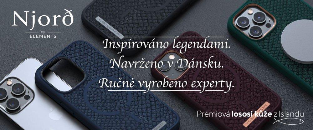 Njord byELEMENTS - Exkluzivní kryty z pravé lososí kůže pro iPhone 12